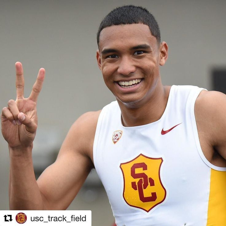 Frosh Mike Norman runs 44.97 to advance to the NCAA 400m final! #Repost @usc_track_field  Norman flashes Fight On! after running the 7th-fastest 400m time in school history of 44.97 to advance to Friday's final!