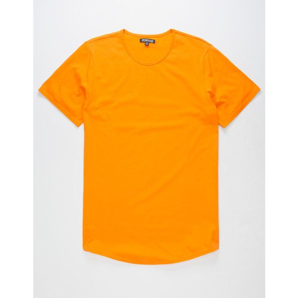 Elwood Curved Hem Mens Tall Tee ($6.98) ❤ liked on Polyvore featuring men's fashion, men's clothing, men's shirts, men's t-shirts, mens crew neck t shirts, mens short sleeve t shirts, mens long tail shirts, mens tall t shirts and j crew mens shirts