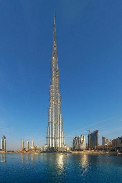 The Burj Khalifa is currently the tallest man-made structure in the world in Dubai