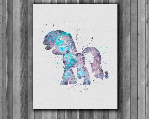 Pony Rarity My Little Pony poster Art Print by digitalaquamarine