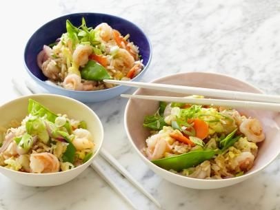 Get this all-star, easy-to-follow Lightened Shrimp Fried Rice recipe from Food Network Kitchen