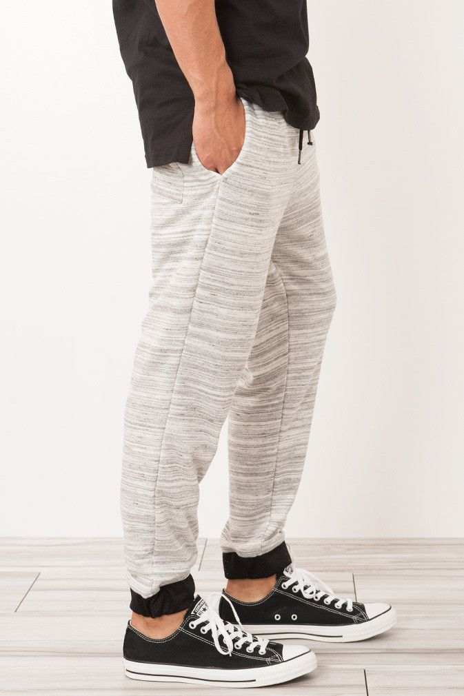 STRIPED KNIT TERRY JOGGER SWEATPANT