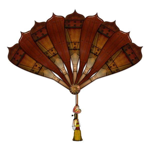 """steampunk fan, created by jilbert on Polyvore""  How I'll make one, Idk - but at least I found this ... <3 C"