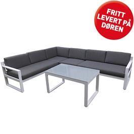 Belize sofagruppe hvit aluminium