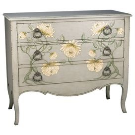 Invite fresh spring style into your home with this eye-catching design, artfully crafted for lasting appeal.Product: ChestConstruction Material: WoodColor: Gray and yellowFeatures:Flower designThree drawersWill enhance any dcor Dimensions: 40 H x 36 W x 16 D