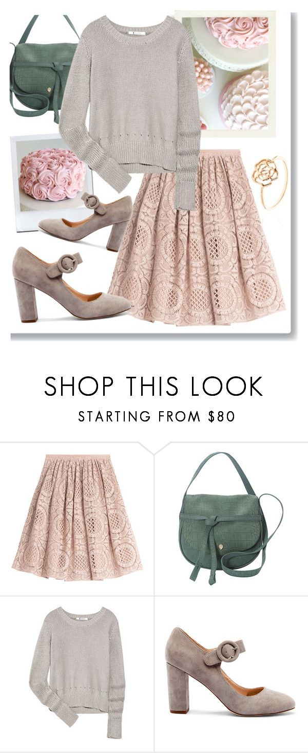 """""""Rose Cake"""" by linlizzy ❤ liked on Polyvore featuring Burberry, Helen Kaminski, T By Alexander Wang, Sole Society, Pink, pastel and fashionset"""
