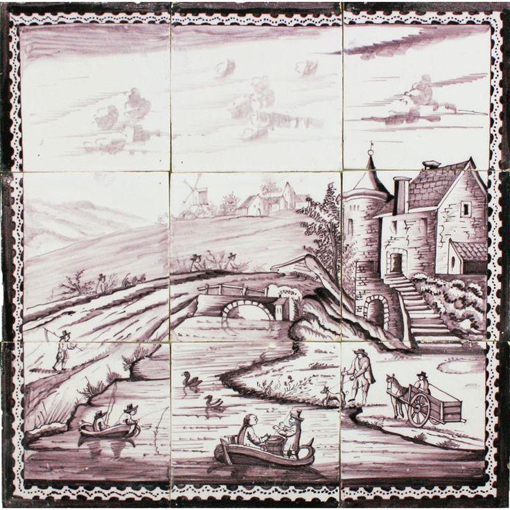 1000 images about dutch delft tile murals on pinterest for Delft tile mural