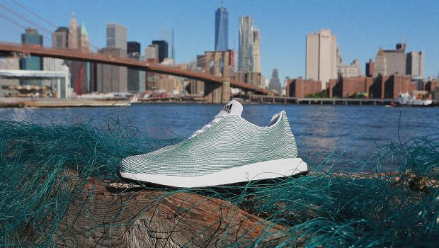 Shoes: knitted from plastic waste pulled from the oceans.