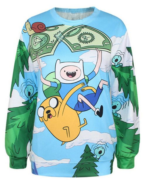 Adventure Time - Long Sleeve Shirts / Pullovers