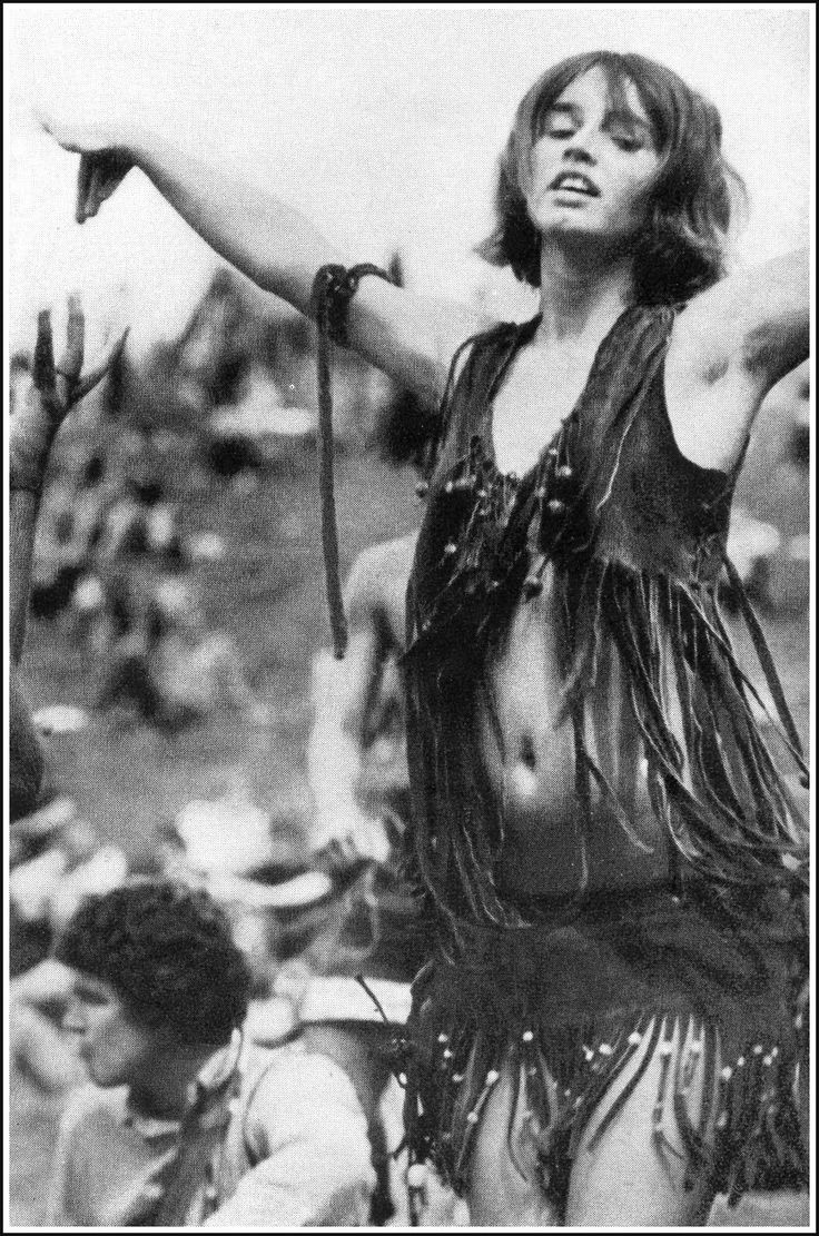 "This picture from Woodstock shows the growth of the style tribe of ""hippies"" had on fashion in the 60's. Description from pinterest.com. I searched for this on bing.com/images"