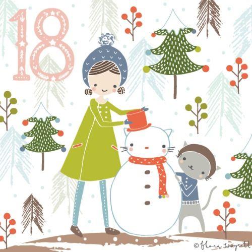 Flora Waycott Christmas Advent 2014 DAY 18 - Let's build a snow cat! xx