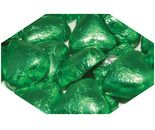 A bulk 1kg bag of Dolci Doro Green Chocolate Hearts.