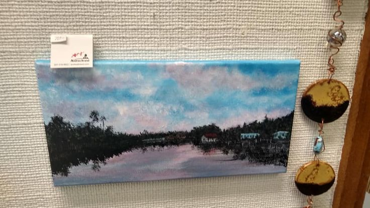Homosassa, Florida River Painting by Andrea Brand / 7x14