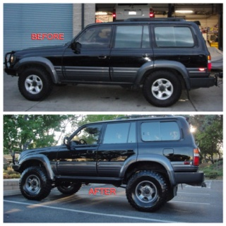 Before and after of my 1997 Lexus LX450 #lexus #lancruiser
