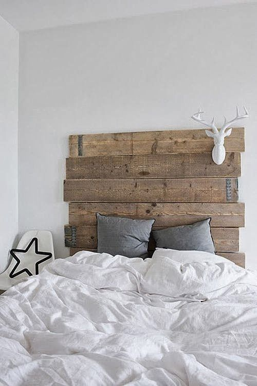Homemade Cedar Headboard Diy Stained Cedar Plank