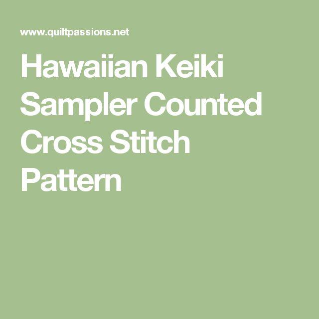 Hawaiian Keiki Sampler Counted Cross Stitch Pattern