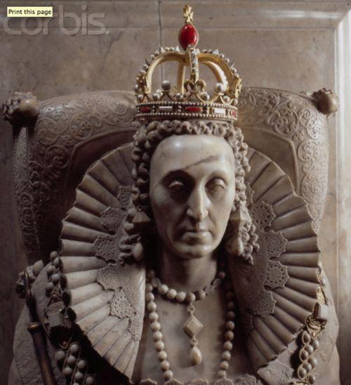 Queen Elizabeth I's tomb, Westminster Abbey.