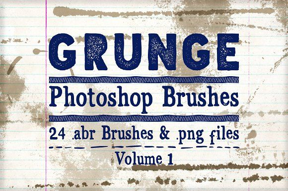 Grunge Photoshop Brushes Vol 1 by Clikchic Designs on @creativemarket