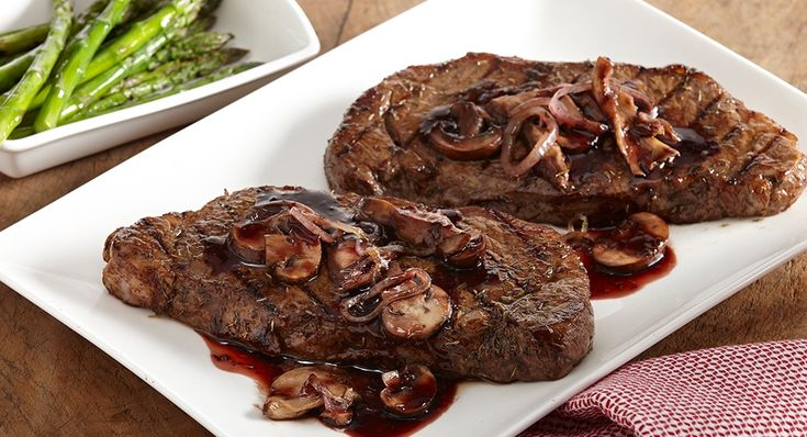 Steak and Wild Mushrooms in Red Wine Sauce: Thyme compliments the ...