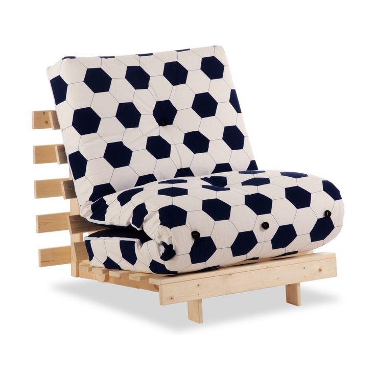Metro 1 Seater Futon Football Print | Next Day - Select Day Delivery