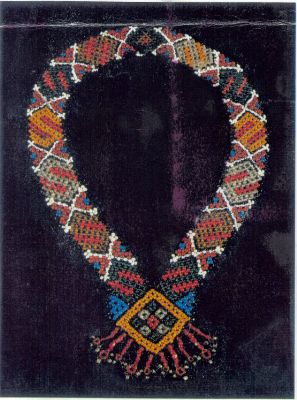"""Gaitan breast ornament, southern Russian, 19th century. Beaded necklace """"Life & Enlightenment Gaitan"""" - photo of an authentic article"""