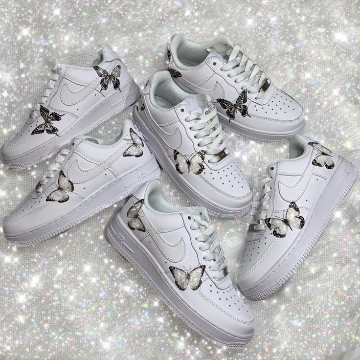 Glitter HD Clear Butterfly Air Force 1 Limited in 2020