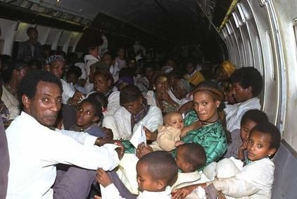 In 1991, when rescuing the Ethiopian jews an Israeli 747 broke the world record for passenger load for planes at 1,122 people. 2 of whom were born mid flight.