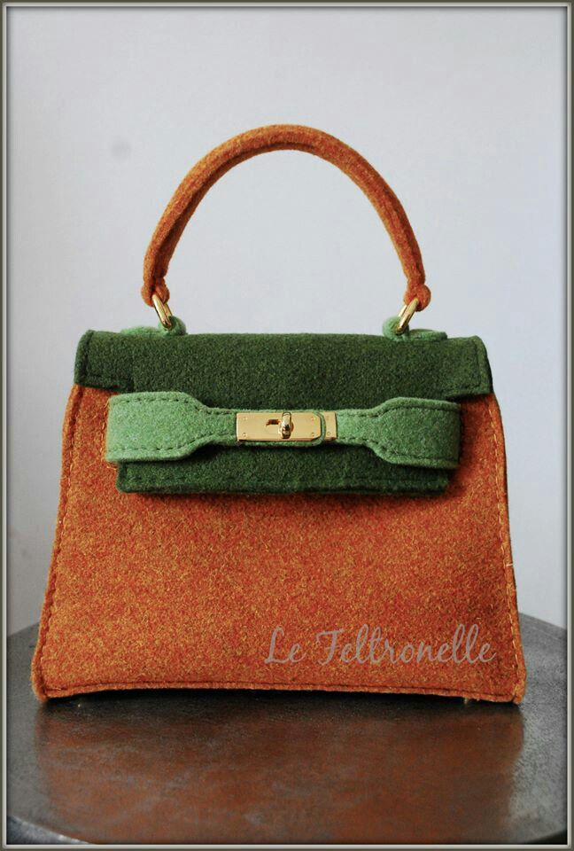 Hermes Kelly inspiration-wool felt