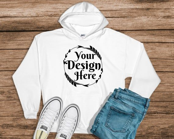 Download Gildan 18500 Hooded Sweatshirt Brand White Hoodie Mockup Etsy Hoodie Mockup Branded Sweatshirts Hooded Sweatshirts