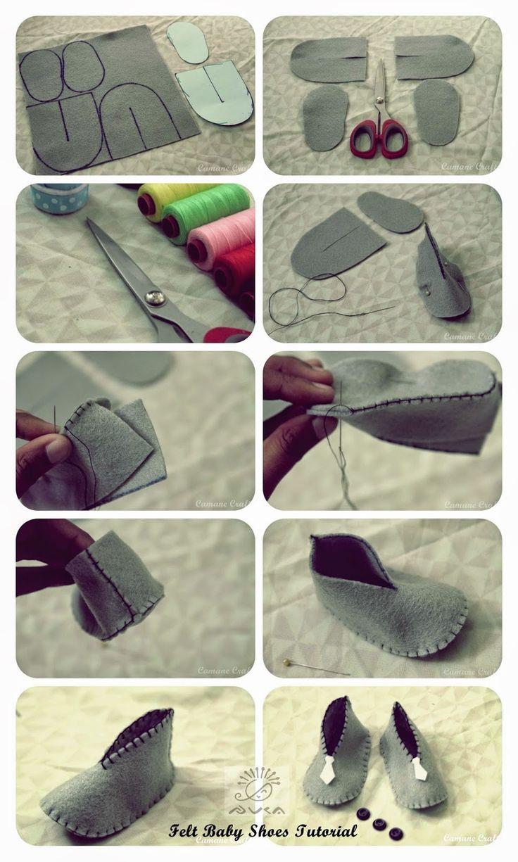 cara membuat sepatu bayi