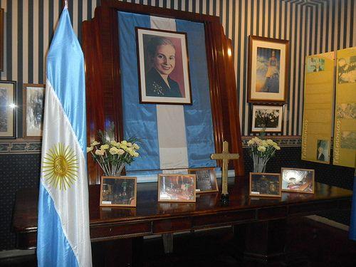 Evita Peron's work desk in the Labor Union building- Buenos Aires Argentina