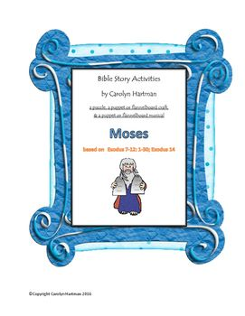"""From the book of Exodus, the story has been made into a fun, educational experience for children.  Included are pictures for the flannelboard or puppets, a puzzle, and a simple musical theatre rendition of """"The Ten Plagues"""". A free PowerPoint presentation based on the story of the plagues may also be ordered."""