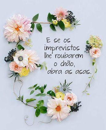 E SE OS IMPREVISTOS TE ROUBAREM O CHÃO, ABRA AS ASAS! #frases , #words