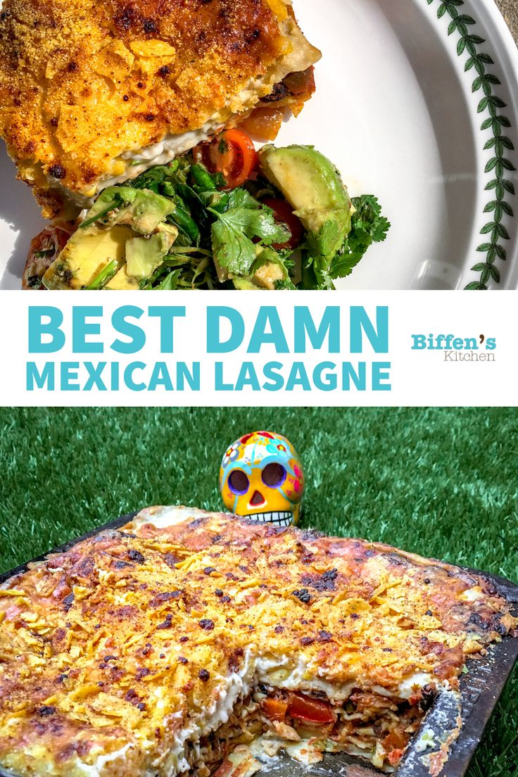 Best Damn Mexican Lasagne with AVOCADO, CHILL AND CORIANDER SALAD