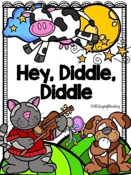 Lots of activities to go with the Nursery Rhyme Hey Diddle Diddle.  Great for those first days of school before you get into your Reading Program.  Activities for First Sounds, Segmenting, Blending, Sequencing, Comprehension, and Fluency are included.