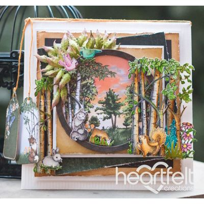 Heartfelt Creations - Woodsy Scene With Layers Project
