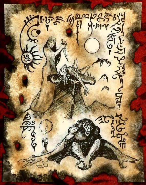 SEASON of the WITCH cthulhu larp Necronomicon Fragment  lovecraft monster art