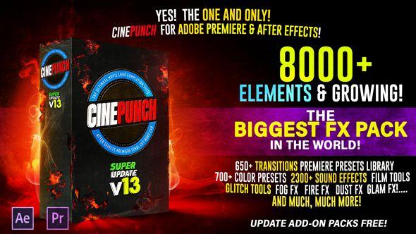 Cinepunch Bundle Transitions I Color Luts I Pro Sound Fx I 9999