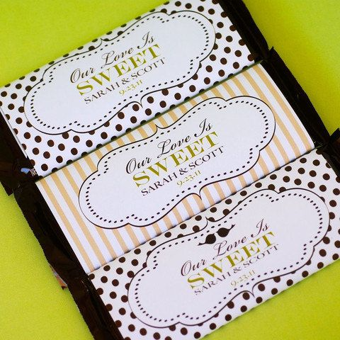 Wedding Candy Bar Wrappers by prettypaperparty on Etsy, $10.00