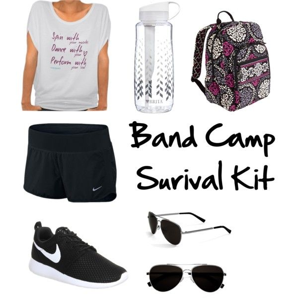 Band Camp // Color Guard by emily-benat on Polyvore featuring polyvore fashion style NIKE Vera Bradley Calvin Klein Brita