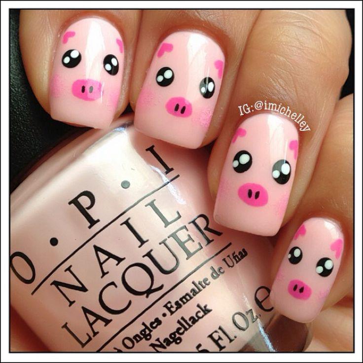 Piggy nail art