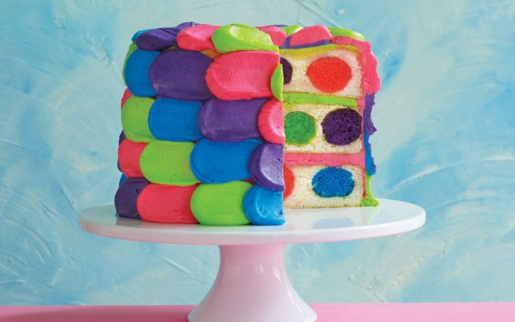 I have got to make this Cute Polka Dot Cake