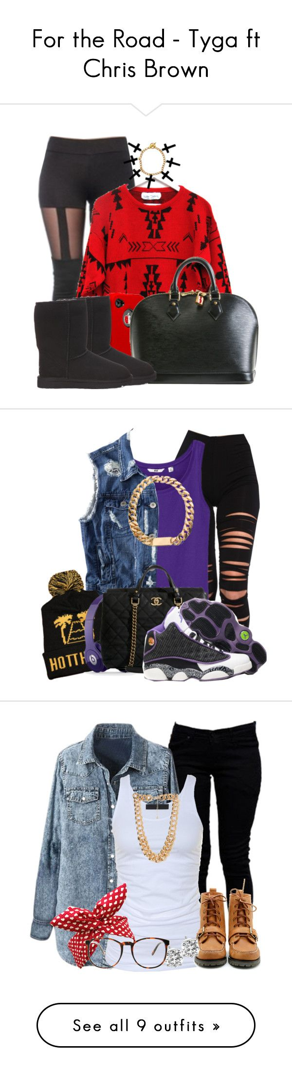 """For the Road - Tyga ft Chris Brown"" by mindlesspolyvore ❤ liked on Polyvore featuring OtterBox, UGG Australia, Akira, Uniqlo, H&M, Beats by Dr. Dre, Chanel, Boohoo, Tusnelda Bloch and Forever 21"