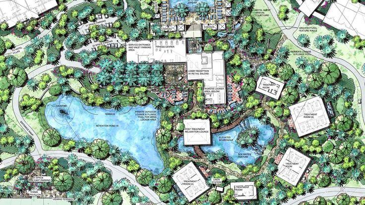 K t qu h nh nh cho spa resort master plan resort for Site plan with landscape