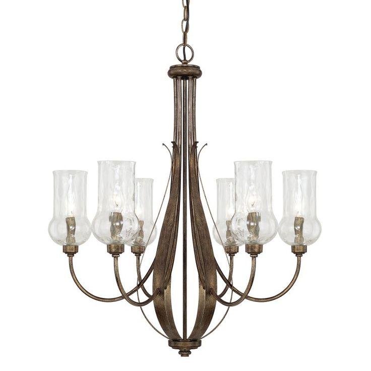Capital Lighting 411661-322 Rowan 6 Light 1 Tier Chandelier Rustic Indoor Lighting Chandeliers
