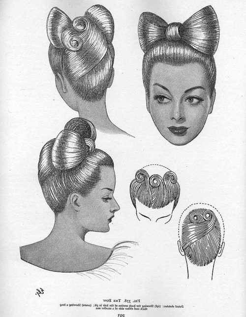 "from ""A Standard and Complete Guide to the Technique of Modern Hairdressing, Manicure, Massage and Beauty Culture"", 1950"