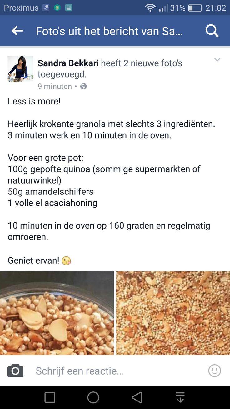 Granola met gepofte quinoa
