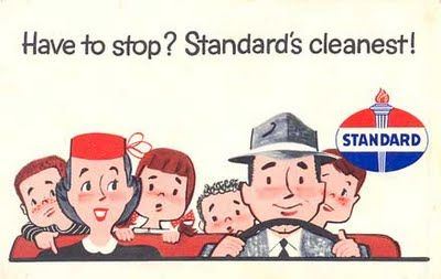 POSTCARDY: the postcard explorer: PFF - Vintage Standard Oil Ad