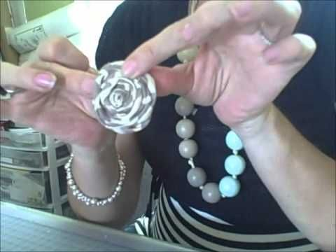 Fabric rosette how to video!!