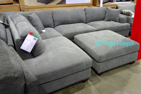 Costco Bainbridge Fabric Sectional With Ottoman 899 99 Fabric Sectional Sectional Costco Sectional